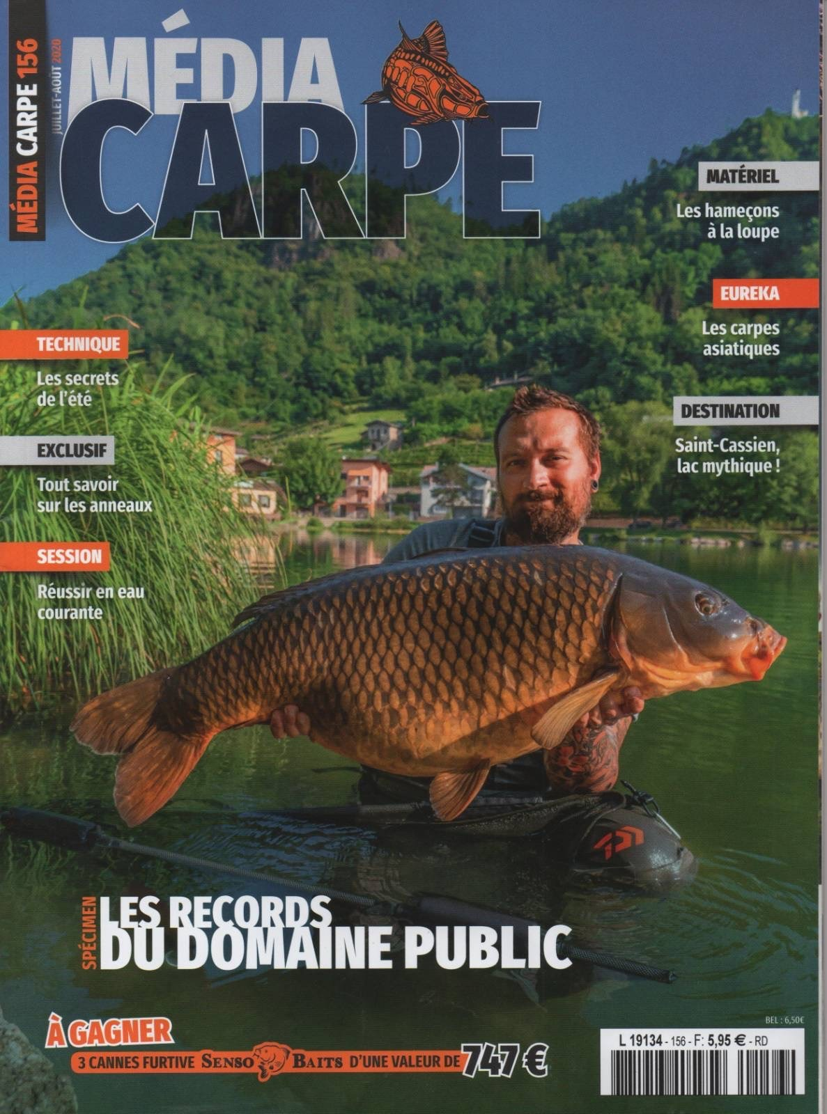 PAGE COUVERTURE RBOAT & MEDIA CARP N°156